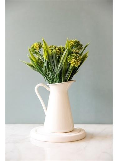 Arma House Country Metal Saksıda Sarı Allium Yapay Çiçek Sarı